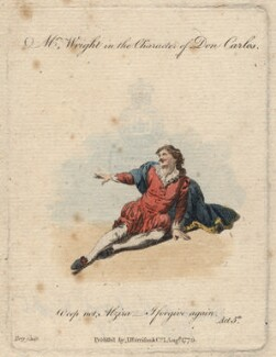 Mr Wright as Don Carlos in Hill's 'Alzira', by Terry, published by  Harrison & Co, after  Unknown engraver - NPG D8714