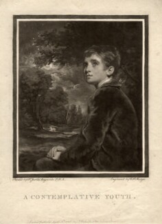 Master Brown ('A contemplative youth'), by Charles Howard Hodges, after  Sir Joshua Reynolds - NPG D873