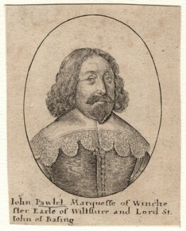 John Paulet, 5th Marquess of Winchester, by Wenceslaus Hollar, after  Unknown artist - NPG D8747