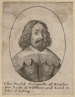 John Paulet, 5th Marquess of Winchester, by Wenceslaus Hollar, after  Unknown artist - NPG D8748