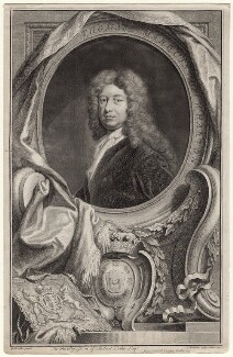 Thomas Wharton, 1st Marquess of Wharton, by Jacobus Houbraken, published by  John & Paul Knapton, after  Sir Godfrey Kneller, Bt - NPG D8754