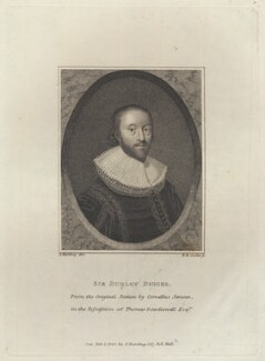 Sir Dudley Digges, by Henry Richard Cook, published by and after  Silvester (Sylvester) Harding - NPG D8760