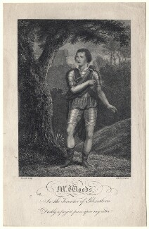William Woods as Glenalvon, by Daniel Lizars, after  Anthony Stewart - NPG D8795