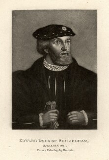 Unknown man engraved as Edward Stafford, 3rd Duke of Buckingham, by Unknown artist - NPG D880