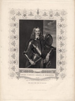 Edward Somerset, 2nd Marquess of Worcester, by John Henry Robinson, published by  John Tallis & Company, after  Sir Anthony van Dyck - NPG D8803