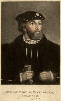 Unknown man engraved as Edward Stafford, 3rd Duke of Buckingham, by Unknown artist - NPG D881
