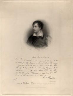 George Gordon Byron, 6th Baron Byron, by Henry Thomas Ryall, after  James Holmes - NPG D8821