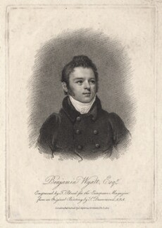 Benjamin Dean Wyatt, by Thomas Blood, published by  James Asperne, after  Samuel Drummond - NPG D8835