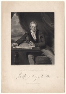Sir Jeffry Wyatville, by John Henry Robinson, published by  Fisher Son & Co, after  Sir Thomas Lawrence - NPG D8837