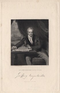 Sir Jeffry Wyatville, by John Henry Robinson, published by  Fisher Son & Co, after  Sir Thomas Lawrence - NPG D8838