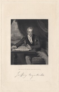 Sir Jeffry Wyatville, by John Henry Robinson, published by  Fisher Son & Co, after  Sir Thomas Lawrence - NPG D8842