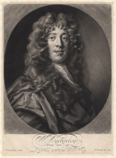 William Wycherley, by John Smith, after  Sir Peter Lely - NPG D8843