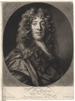 William Wycherley, by John Smith, after  Sir Peter Lely - NPG D8844