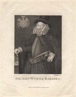 Sir John Wynn of Gwydir, 1st Bt, by William Sharp, after  Unknown artist - NPG D8846
