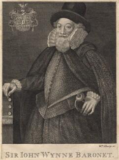 Sir John Wynn of Gwydir, 1st Bt, by William Sharp, after  Unknown artist - NPG D8848