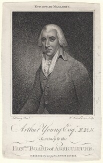 Arthur Young, by W. Hinton, after  John Rising - NPG D8855