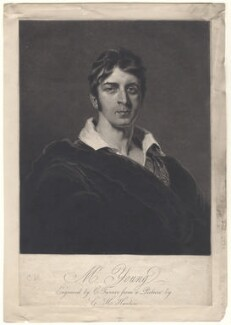 Charles Mayne Young, by Charles Turner, after  George Henry Harlow - NPG D8856