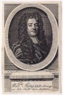 William King, by John Vandergucht, after  Robert Dellow, published 1734 - NPG D8883 - © National Portrait Gallery, London