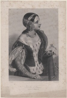Isabella of France, by Henry Collier Austin, after  John William Wright, mid 19th century - NPG D8885 - © National Portrait Gallery, London