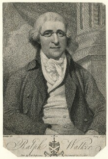 Ralph Walker, by William Ridley, published by  James Asperne, after  John Eckstein - NPG D8891