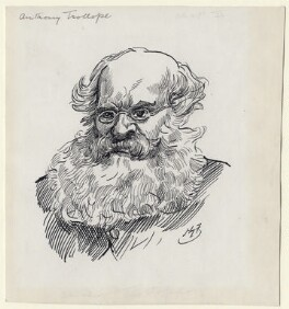 Anthony Trollope, by Harry Furniss, late 19th century, published in Some Victorian Men 1924 - NPG D89 - © National Portrait Gallery, London