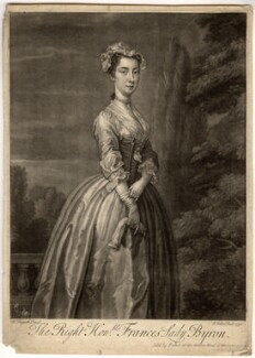 Frances Byron (née Berkeley), Lady Byron, by John Faber Jr, after  William Hogarth - NPG D890