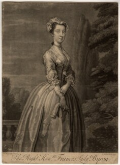 Frances Byron (née Berkeley), Lady Byron, by John Faber Jr, after  William Hogarth - NPG D891