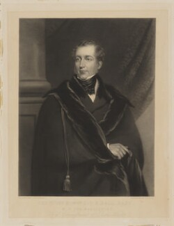 Benjamin Hall, 1st Baron Llanover, by George Zobel, after  Frederick Yeates Hurlstone - NPG D8916