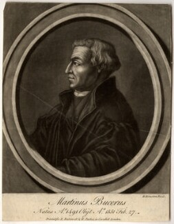 Martin Bucer (Butzer), by John Faber Sr, by  Richard Houston, after  Unknown artist - NPG D892