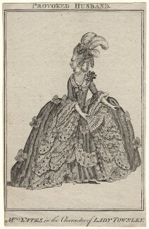 Mary Ann Yates as Lady Townley in 'The Provok'd Husband', after James Roberts - NPG D8932