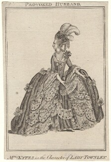 Mary Ann Yates as Lady Townley in 'The Provok'd Husband', after James Roberts - NPG D8933