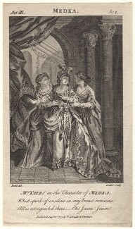 Mary Ann Yates as Medea in Glover's 'Medea', by John Goldar, published by  Thomas Lowndes, after  Daniel Dodd - NPG D8934