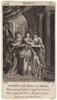 Mary Ann Yates as Medea in Glover's 'Medea', by John Goldar, published by  Thomas Lowndes, after  Daniel Dodd - NPG D8935