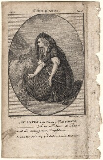 Mary Ann Yates as Volumnia in 'Coriolanus', by John Thornthwaite, published by  John Cawthorn, after  Edward Francisco Burney - NPG D8940