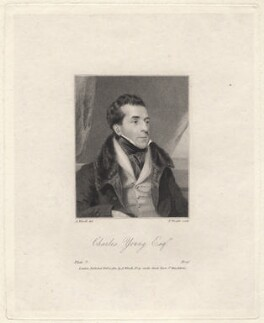 Charles Mayne Young, by Thomas Wright, after  Abraham Wivell - NPG D8949