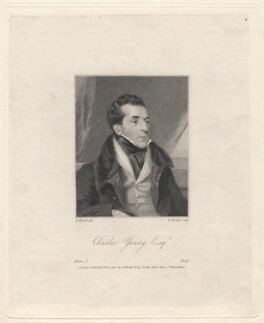 Charles Mayne Young, by Thomas Wright, after  Abraham Wivell - NPG D8950