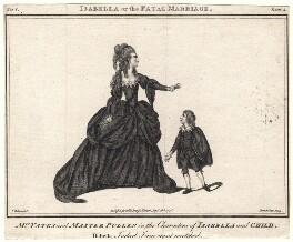 Mary Yates; Master Pullen (as Isabella and child in David Garrick's 'Isabella'), by John Thornthwaite, published by  John Bell, after  James Roberts - NPG D8951