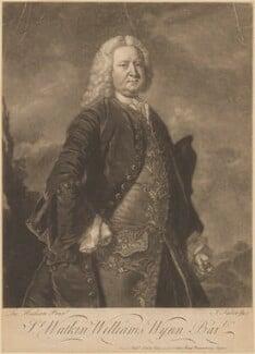 Sir Watkin Williams Wynn, 3rd Bt, by and sold by John Faber Jr, after  Thomas Hudson - NPG D8959