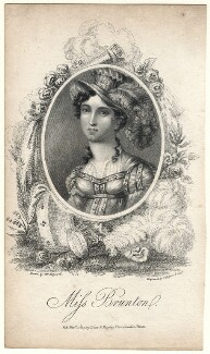 Elizabeth Yates (née Brunton) when Miss Brunton, by James Hopwood Jr, published by  Dean & Munday, after  William Hopwood - NPG D8962