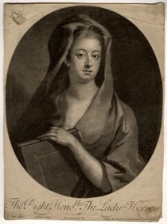 Elizabeth Hervey (née Felton), Countess of Bristol, by John Simon, after  Michael Dahl - NPG D8969