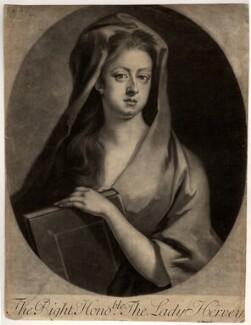 Elizabeth Hervey (née Felton), Countess of Bristol, by John Simon, after  Michael Dahl - NPG D8970