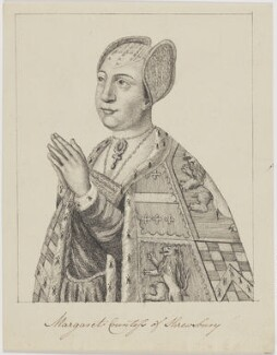 Margaret Talbot (née Beauchamp), Countess of Shrewsbury, by Unknown artist - NPG D9