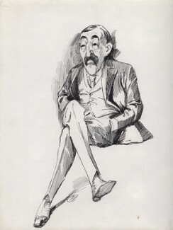 Arthur Wagg, by Harry Furniss - NPG D90