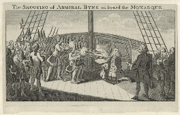 John Byng ('The Shooting of Admiral Byng'), by Unknown engraver - NPG D9023