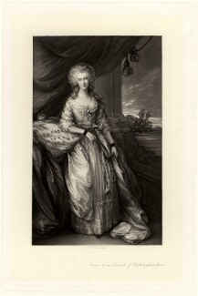 Mary Anne Hobart (née Drury), Countess of Buckinghamshire, by William Henry Simmons, after  Thomas Gainsborough - NPG D907