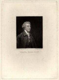 Edmund Burke, by Samuel William Reynolds, after  Sir Joshua Reynolds - NPG D920