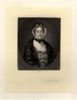 Lucy Audley (née James) engraved as Mrs Burroughs, by James Scott, after  Thomas Gainsborough - NPG D934