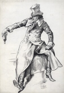 Sir Henry Irving as Dubosc in 'The Lyons Mail', by Harry Furniss - NPG D94