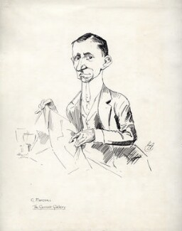 Guglielmo Marconi, by Harry Furniss, early 20th century, published in The Garrick Gallery circa 1923 - NPG D95 - © National Portrait Gallery, London