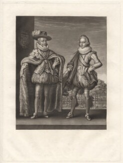 Christian IV, King of Denmark and Norway; Frederick III, King of Denmark, by Robert Dunkarton, published by  Samuel Woodburn, after  Willem de Passe - NPG D9550